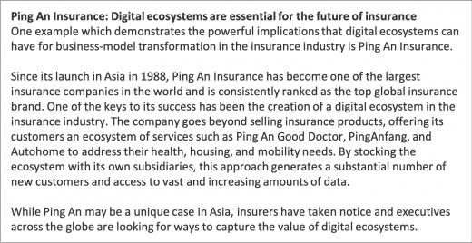 Ping An Insurance: Digital ecosystems are essential for the future of insurance